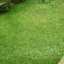 Hagel nach einem Gewitter am 01. Juli 2012