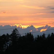 Sonnenuntergang am 23. Juni 2012
